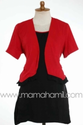 baju menyusui bolero pendek merah   SD 181  large